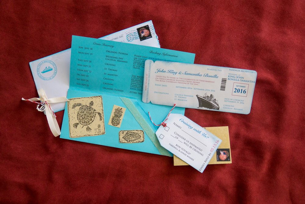 Atlanta Wedding Invitations: Boarding Pass Invitations For A Cruise Wedding