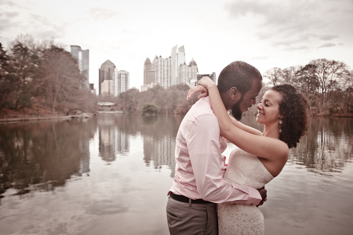Piedmont Park Engagement Pictures | Atlanta, GA | Mannie & Whitney
