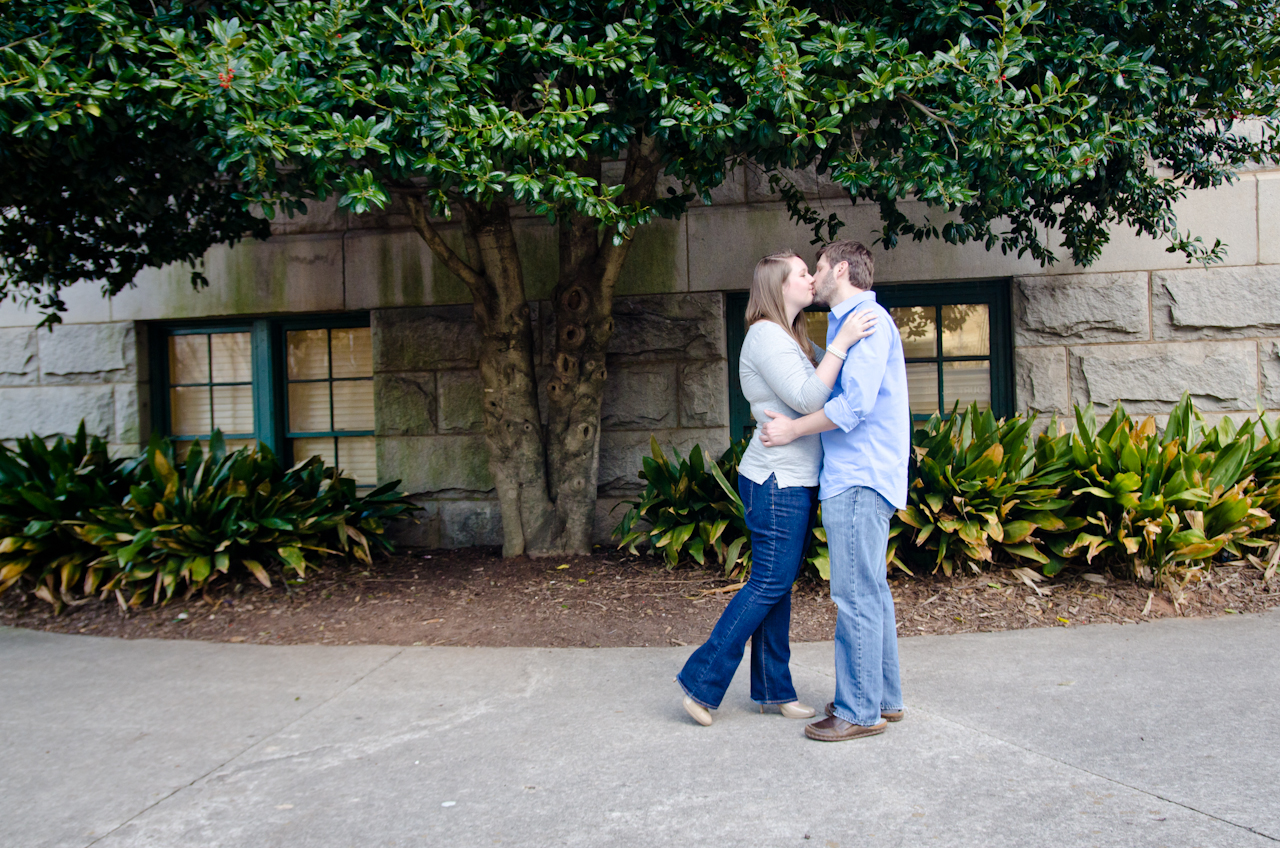 Downtown Decatur Engagement Pictures | Cator Woolford Gardens Engagement Pictures