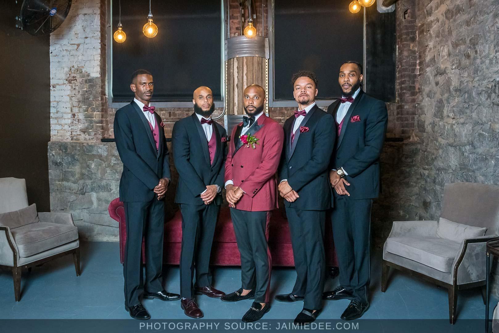 Terminus 330 Wedding Photos - groomsmen
