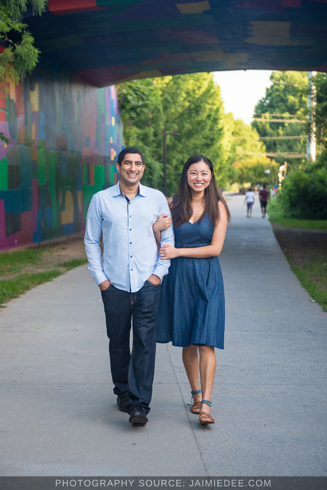 Atlanta-Beltline-engagement-photos-couple-walking