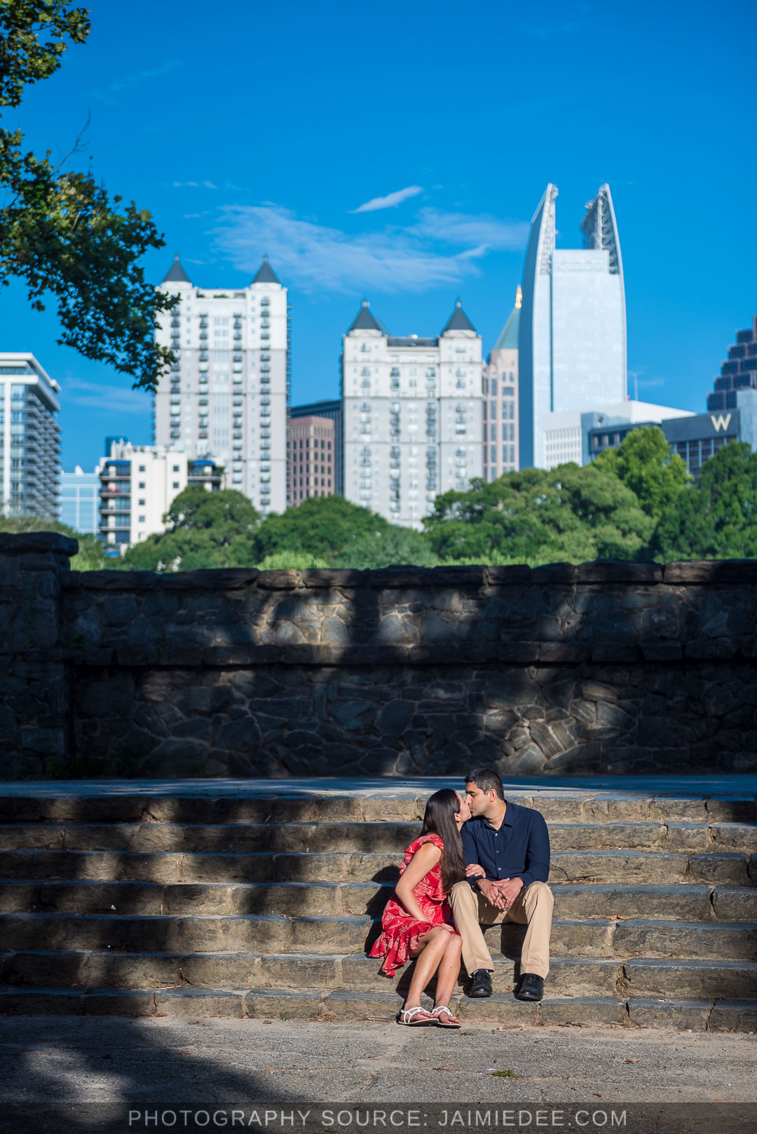 Atlanta-Beltline-engagement-photos-with-skyline