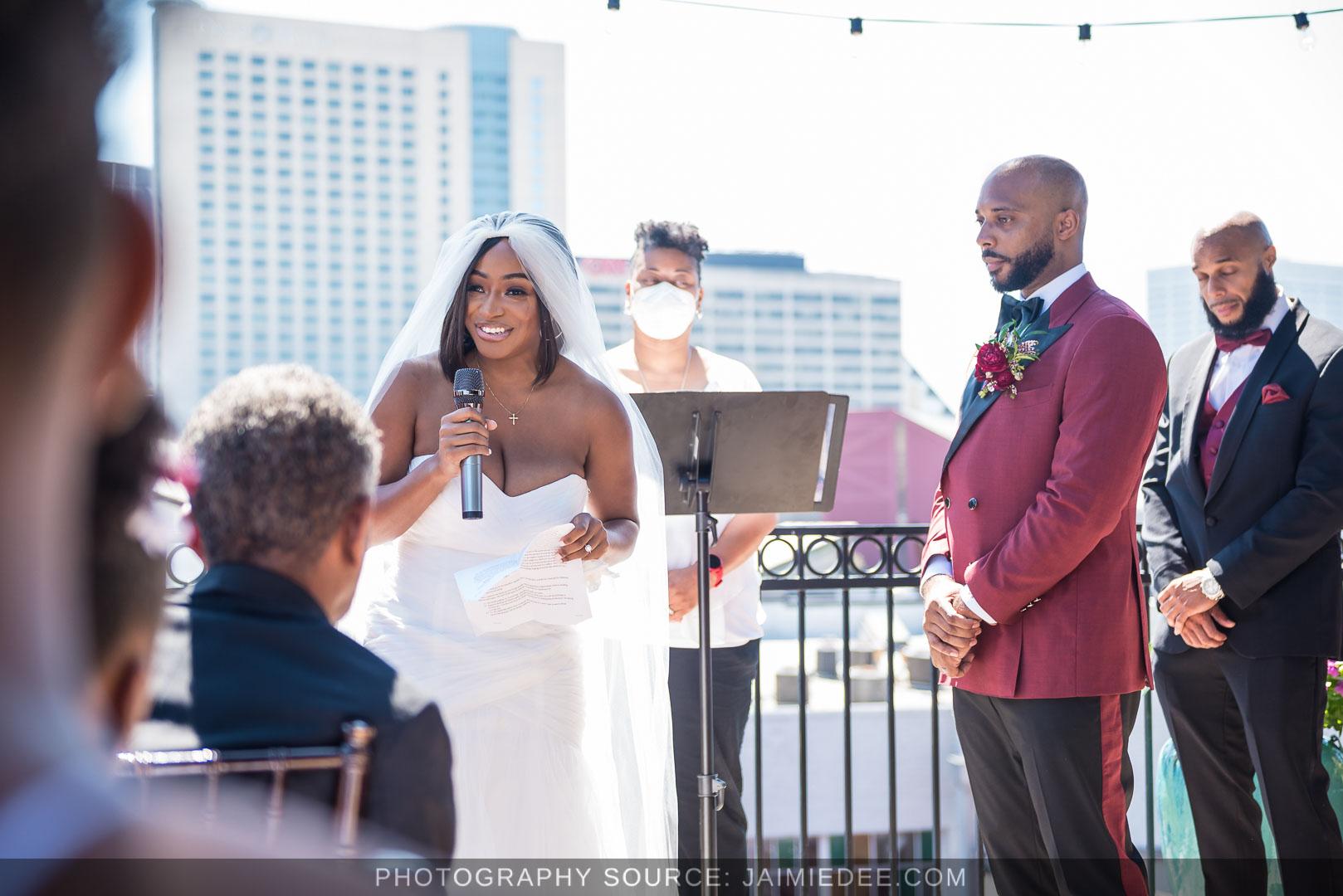Terminus 330 Wedding Ceremony Photos - Atlanta Rooftop