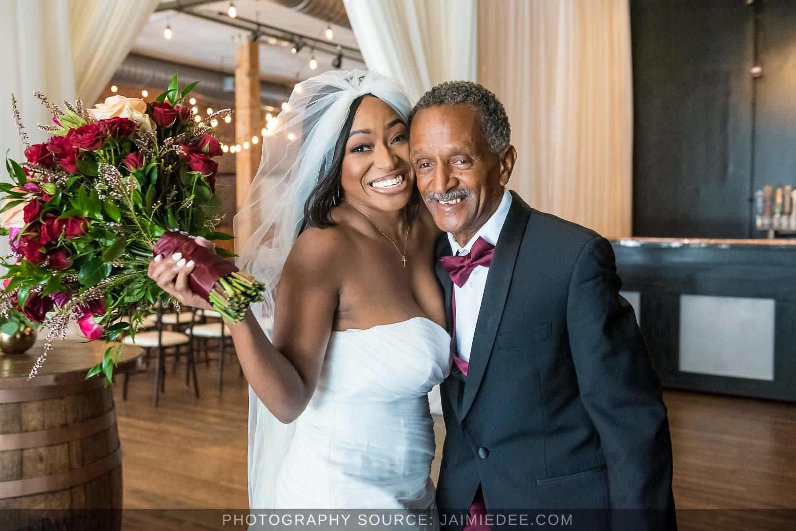 Terminus 330 Wedding Photos bride with father