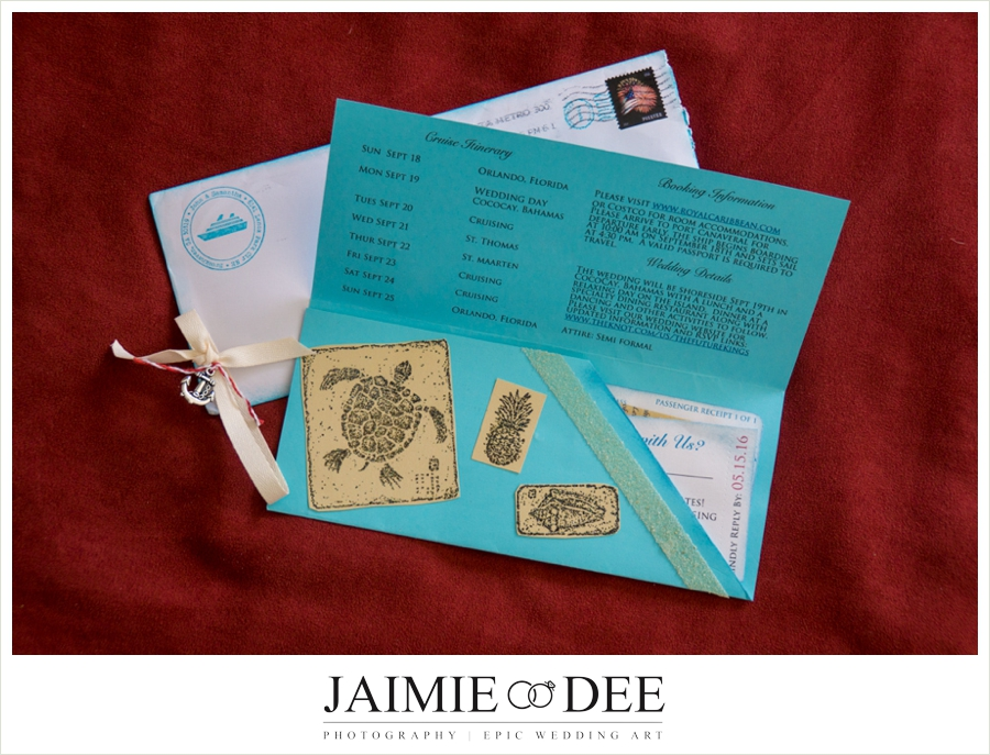 Boarding Pass Invitations for a Cruise Wedding | Homemade Wedding Invitation Ideas
