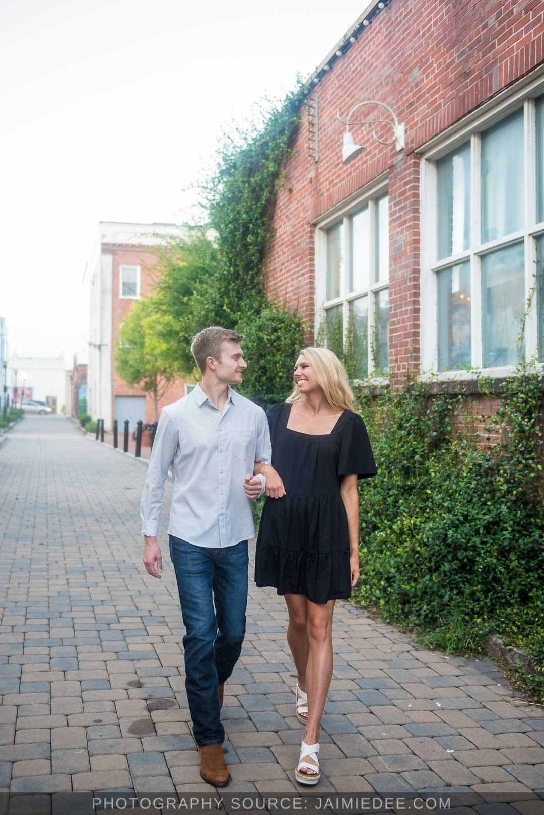 Marietta Square Engagement Photos