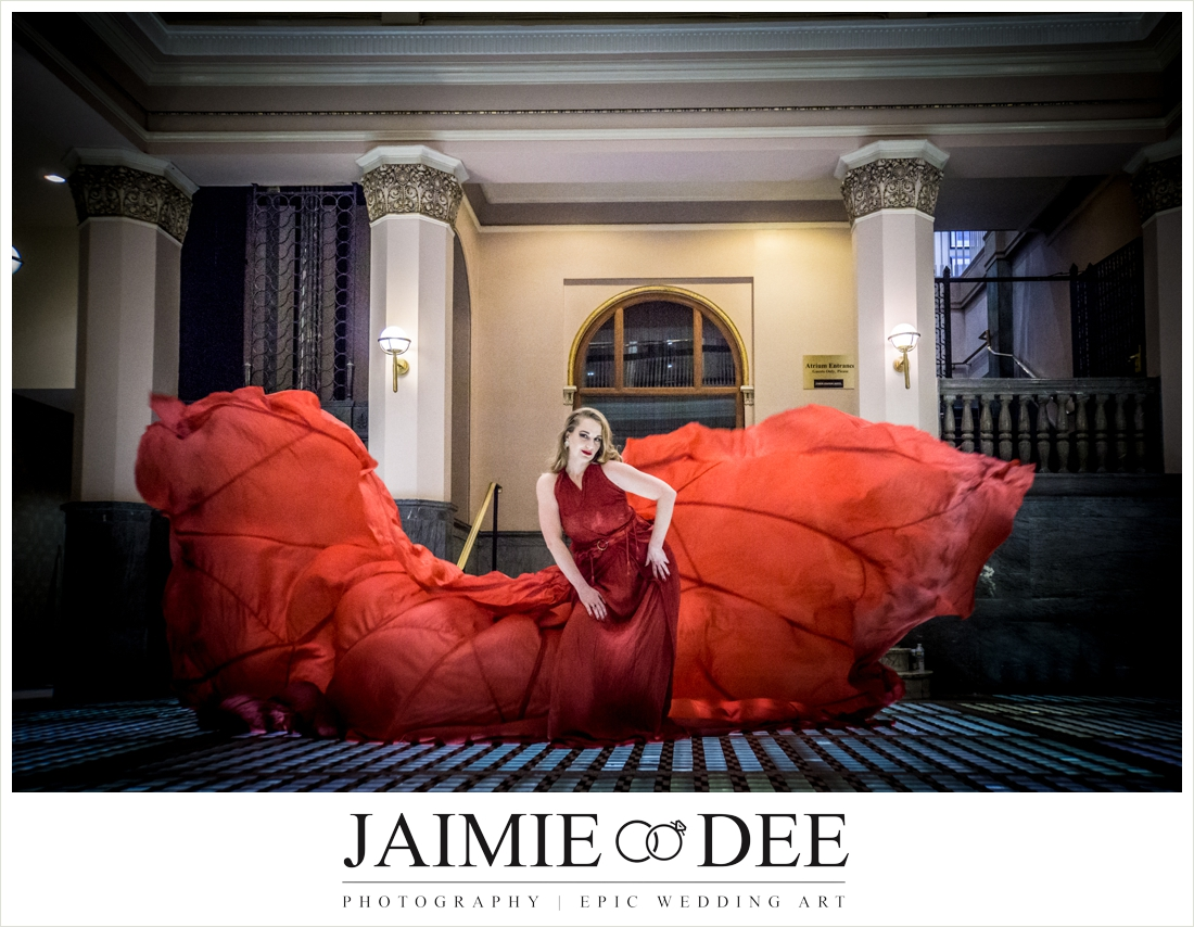 Parachute Dress Photography | St. Louis Wedding Photographers