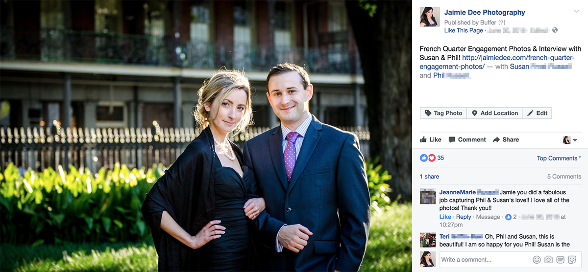 Atlanta Engagement Photographers Testimonial