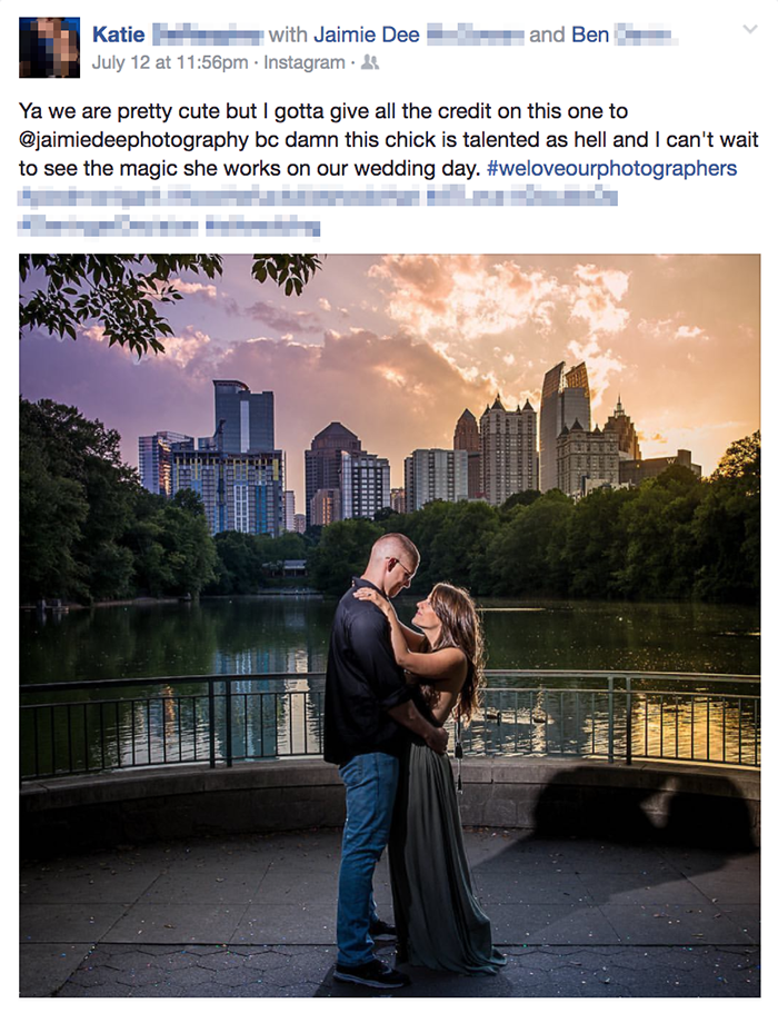 Atlanta Engagement Photography Testimonial