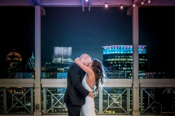 A Rooftop Wedding with the best views in Atlanta, GA