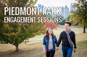 piedmont park engagement photos – atlanta wedding photographer