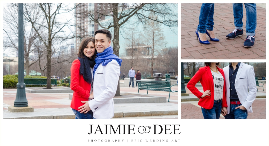 centennial park engagement pictures | Atlanta wedding Photographer