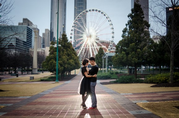 Creative Engagement Photo Ideas: The Face Each Other Pose
