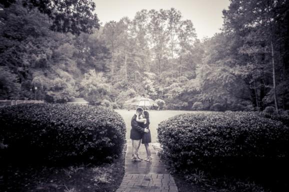 Engagement Photos at Home | Atlanta Wedding Photographer