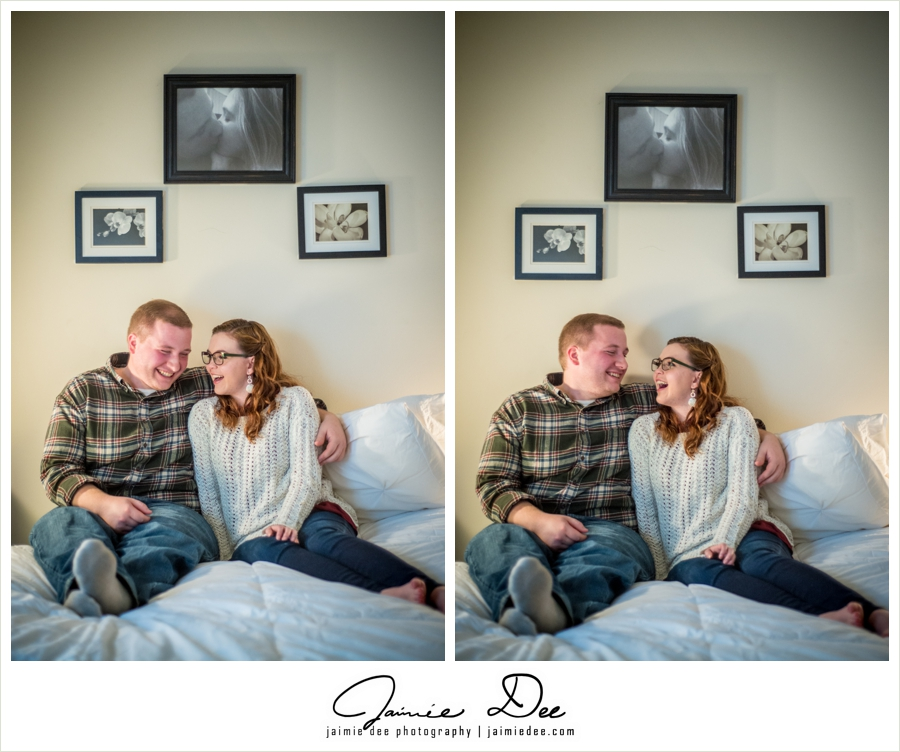 Engagement Photos at Home | Atlanta Wedding Photographer