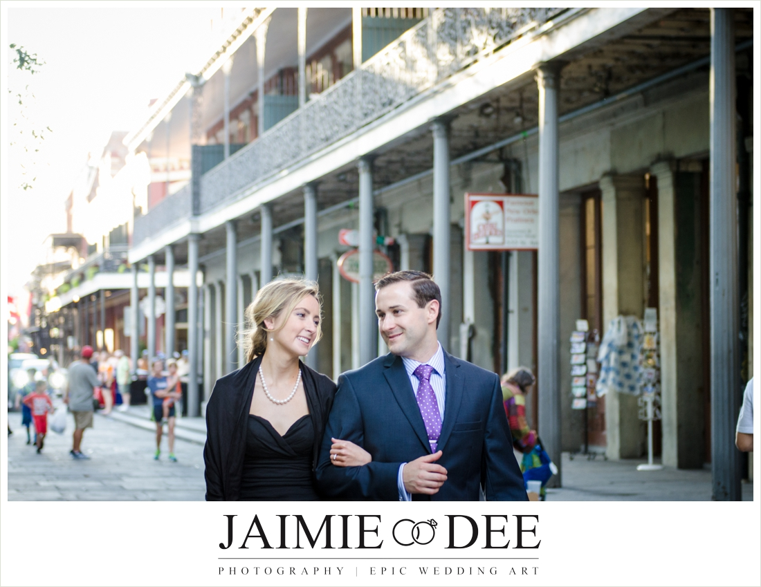 french quarter engagement photos